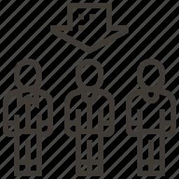 arrow, people, select, selection icon