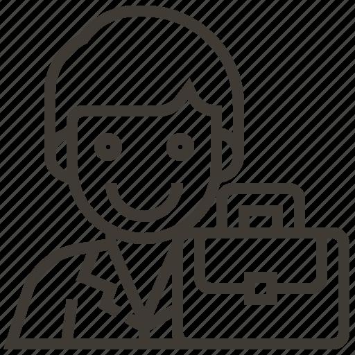 avatar, briefcase, job, man, work icon
