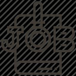 job, job search, search, work icon