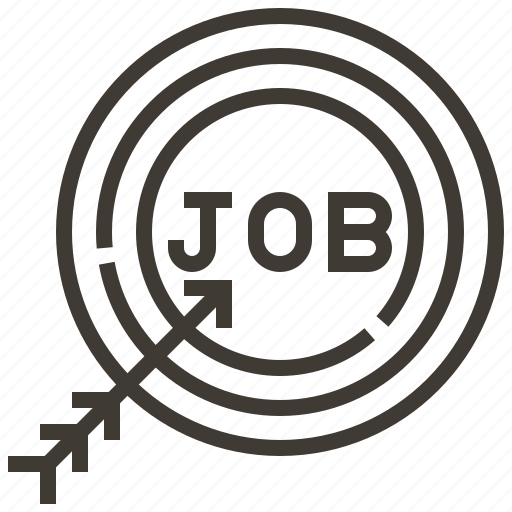 arrow, bullseye, job search, target icon