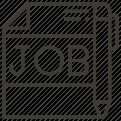Job, work, job search, pen icon