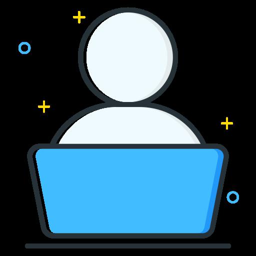 employee, job, laptop, seeker, unemployee, work icon