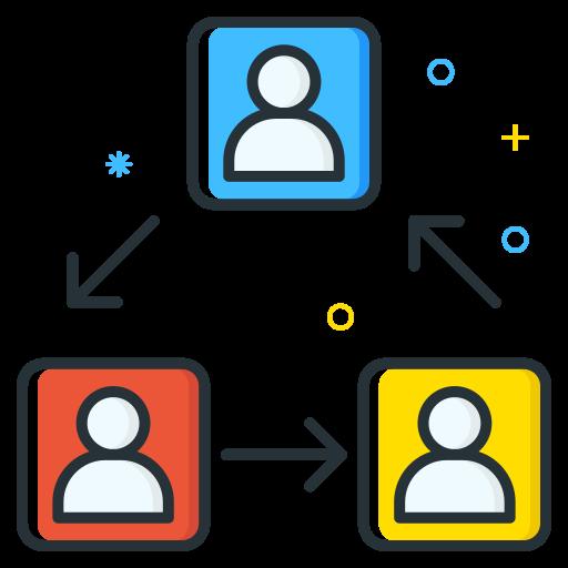 employee, job, rotation, seeker, unemployee, work icon