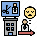 depression, employee, involuntary, layoff, stress, unemployment icon
