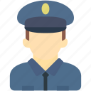 avatar, human, man, police, uniform icon
