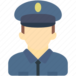 avatar, human, man, police, uniform icon