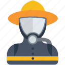 avatar, diver, human, man, scuba, scuba diver icon