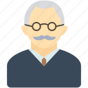 avatar, boss, dad, grandfather, man, old man, teacher icon