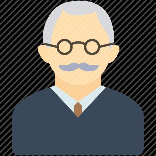 avatar, boss, dad, grandfather, man, old man, teacher icon