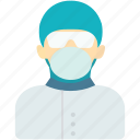 avatar, doctor, human, nurse, operating room nurse, operation, woman icon