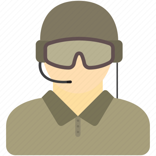 avatar, jet pilot, military pilot, police swat, swat icon