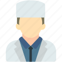 avatar, doctor, imam, medical, uniform icon