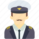 avatar, human, man, pilot, police, security, uniform icon