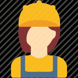 avatar, female, plumber, repairwoman, woman icon