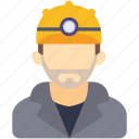 avatar, human, industrial, man, miner, repairman icon