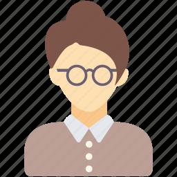 avatar, female, girl, secretary, teacher, woman icon