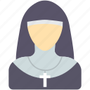 catholic, christian, churc, nun, religious, sister icon