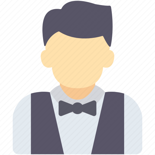 avatar, hotel services, waiter icon
