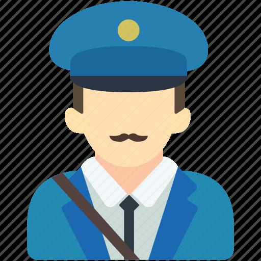 avatar, carrier, mail, mailman, packet, postman, uniform icon