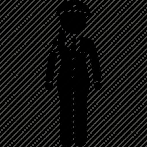 apparel, attire, captain, female, job, uniform, woman icon