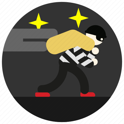 bag, burglar, jobs, night, sneak, stars, stripes icon