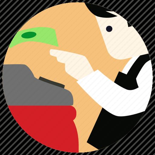 cashier, jobs, money, pay icon