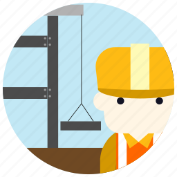 construction, helmet, jobs, uniform, worker icon