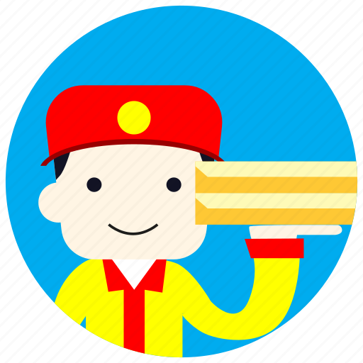 cap, delivery, jobs, order, pizza, uniform icon