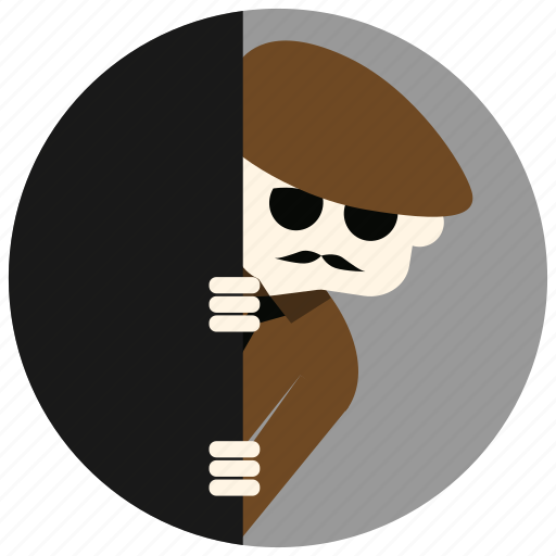 detective, investigation, jobs, mustache, spying, sunglasses icon