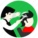 comb, hair, hairdresser, jobs, scissor icon