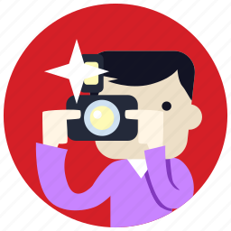 camera, flash, jobs, man, photographer icon