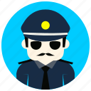 hat, jobs, officer, police, sunglasses, tie icon