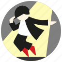 dance, dancer, jobs, preformer, spotlight icon