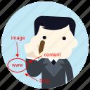 content, designer, image, jobs, online, web, www icon