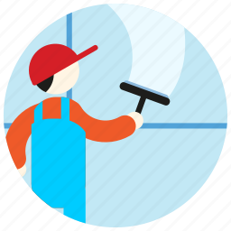 cap, clean, jobs, uniform, washer, window icon