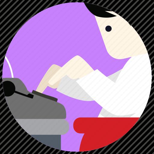 jobs, paper, type, typewriter, writer icon