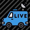 van, broadcasting, live, satellite, automobile