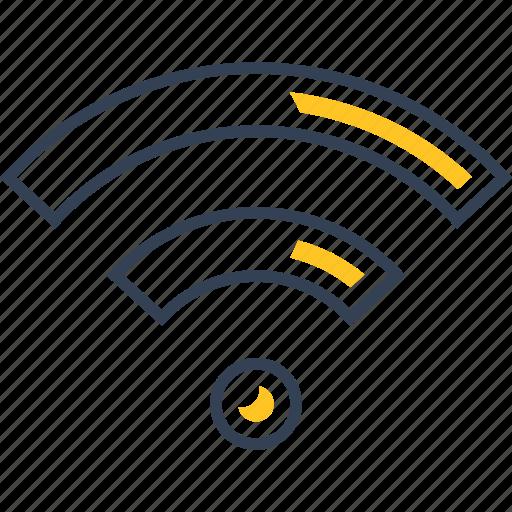 fi, internet, journey, wi icon