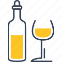 alcohol, bottle, journey, wine icon
