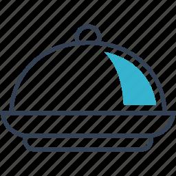 dish, food, journey, tray icon
