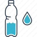 bottle, drop, journey, water icon