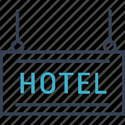 hotel, journey, travel icon