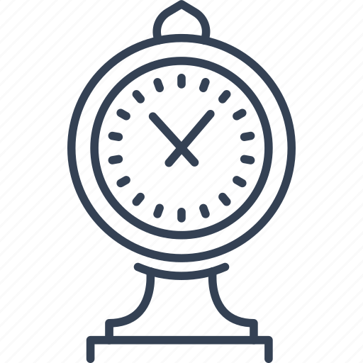 clock, journey, landmark icon