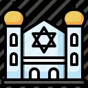 synagogue, religion, worship, jewish, faith icon