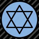 david, faith, jewish, religion, star icon