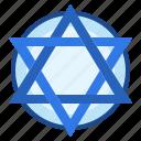 star, judaism, israel, david, belief icon