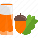 acorn, drink, juice, nut icon