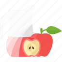 apple, drink, fruit, juice icon