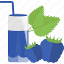 blackberry, drink, fruit, juice icon