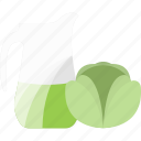 cabbage, drink, juice, vegetables icon